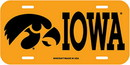 Iowa Hawkeyes License Plate