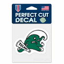 Tulane Green Wave Decal 4x4 Perfect Cut Color Special Order