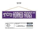 TCU Horned Frogs Sign 4x17 Wood Avenue Design
