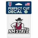 New Mexico State Aggies Decal 4x4 Perfect Cut Color Special Order