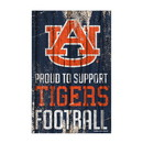 Auburn Tigers Sign 11x17 Wood Proud to Support Design