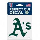Oakland Athletics Decal 4x4 Perfect Cut Color