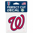 Washington Nationals Decal 4x4 Perfect Cut Color