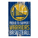 Golden State Warriors Sign 11x17 Wood Proud to Support Design