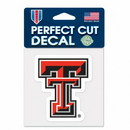 Texas Tech Red Raiders Decal 4x4 Perfect Cut Color
