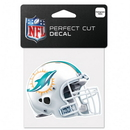 Miami Dolphins Decal 4x4 Perfect Cut Color Helmet
