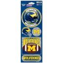 Michigan Wolverines Stickers Prismatic