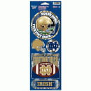 Notre Dame Fighting Irish Stickers Prismatic