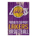 Los Angeles Lakers Sign 11x17 Wood Proud to Support Design