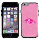 Baltimore Ravens Pink NFL Football Pebble Grain Feel IPhone 6 Case