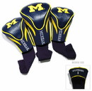 Michigan Wolverines Golf Club 3 Piece Contour Headcover Set
