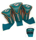 Miami Dolphins Golf Club 3 Piece Contour Headcover Set