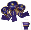Minnesota Vikings Golf Club 3 Piece Contour Headcover Set