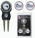 New England Patriots Golf Divot Tool with 3 Markers