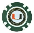 Miami Hurricanes Golf Chip with Marker - Bulk