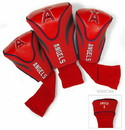 Los Angeles Angels Golf Club 3 Piece Contour Headcover Set