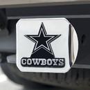 Dallas Cowboys Hitch Cover Chrome Emblem on Chrome
