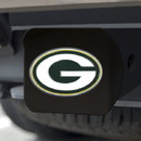 Green Bay Packers Hitch Cover Color Emblem on Black