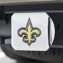New Orleans Saints Hitch Cover Color Emblem on Chrome