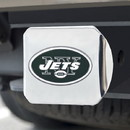 New York Jets Hitch Cover Color Emblem on Chrome