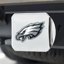 Philadelphia Eagles Hitch Cover Color Emblem on Chrome