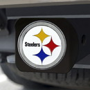 Pittsburgh Steelers Hitch Cover Color Emblem on Black