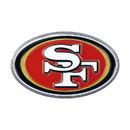 San Francisco 49ers Auto Emblem Premium Metal Chrome Color