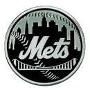 New York Mets Auto Emblem Premium Metal Chrome