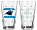 Carolina Panthers Satin Etch Pint Glass Set