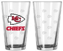 Kansas City Chiefs Satin Etch Pint Glass Set