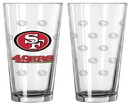 San Francisco 49ers Satin Etch Pint Glass Set