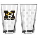 Missouri Tigers Satin Etch Pint Glass Set