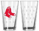 Boston Red Sox Satin Etch Pint Glass Set