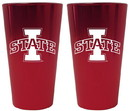 Iowa State Cyclones Lusterware Pint Glass - Set of 2