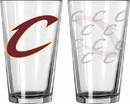 Cleveland Cavaliers Glass Pint Satin Etch 2 Piece Set Special Order