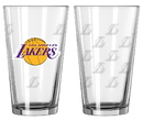 Los Angeles Lakers Satin Etch Pint Glass Set