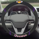 Los Angeles Lakers Steering Wheel Cover Mesh/Stitched Special Order