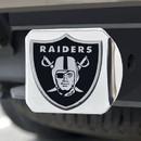 Oakland Raiders Hitch Cover Chrome Emblem on Chrome