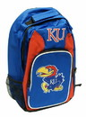 Kansas Jayhawks Backpack Southpaw Style Royal Blue