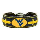 West Virginia Mountaineers Bracelet Team Color Football