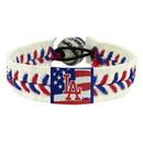 Los Angeles Dodgers Bracelet Baseball Stars and Stripes