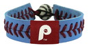 Philadelphia Phillies Retro P Logo Team Color Baseball Bracelet