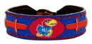 Kansas Jayhawks Team Color Football Bracelet