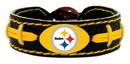 Pittsburgh Steelers Bracelet Team Color Football