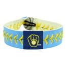 Milwaukee Brewers Bracelet Team Color Baseball Columbia Blue