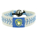 Milwaukee Brewers Bracelet Genuine Baseball Retro Logo