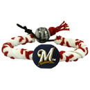 Milwaukee Brewers Classic Frozen Rope Baseball Bracelet