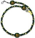Oakland Athletics Team Color Frozen Rope Baseball Necklace
