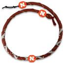 Nebraska Cornhuskers Spiral Football Necklace