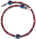 Philadelphia Phillies Retro P Logo Team Color Frozen Rope Baseball Necklace